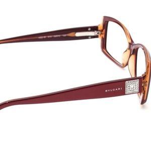 Bvlgari Eyeglasses 474-B Swarovski Crystal Gold Br